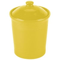 Homer Laughlin 572320 Fiesta Sunflower Medium 2 Qt. Canister with Cover - 2 / Case