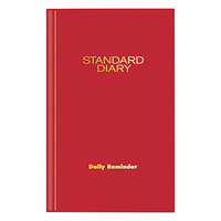 At-A-Glance SD38513 4 inch x 6 5/8 inch Red 2018 Daily Reminder Diary