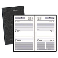 At-A-Glance SK4800 DayMinder 3 1/2 inch x 6 3/16 inch Black January 2018 - December 2018 Weekly Pocket Planner
