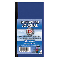 Adams APJ99 3 1/4 inch x 6 1/4 inch Blue Password Journal