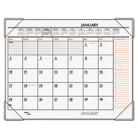 At-A-Glance SK117000 22 inch x 17 inch White / Orange January 2019 - December 2019 Monthly Desk Pad Calendar