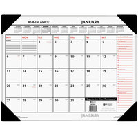 At-A-Glance SK117000 22 inch x 17 inch White / Orange January 2020 - December 2020 Monthly Desk Pad Calendar