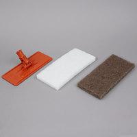 3M 6472 Doodlebug 9 inch x 3 3/4 inch Orange Pad Holder Kit with Pads