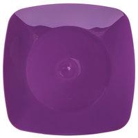 Fineline 1508-PRP Renaissance 7 1/2 inch Purple Square Salad Plate - 10/Pack