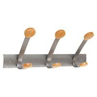 Alba PMV3 Wooden Three-Peg Coat Hook / Wall Rack