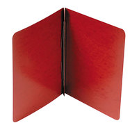 Acco 25078 8 1/2 inch x 11 inch Red Presstex Side Bound Report Cover with Prong Fastener - 3 inch Capacity