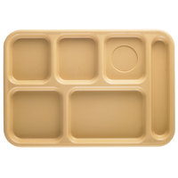 Cambro BCT1014161 Tan Budget 6 Compartment Serving Tray - 24/Case