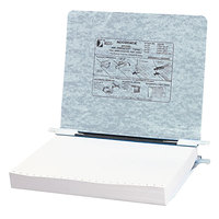 Acco 54124 Presstex 8 1/2 inch x 11 inch Light Gray Side Bound Hanging Data Binder with Storage Hooks and 6 inch Capacity
