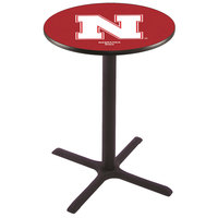 Holland Bar Stool L211B36NEBRUN 28 inch Round University of Nebraska Pub Table