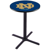Holland Bar Stool L211B36ND-ND 28 inch Round University of Notre Dame Pub Table
