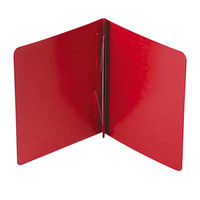 Acco 25079 8 1/2 inch x 11 inch Executive Red Presstex Side Bound Report Cover with Prong Fastener - 3 inch Capacity