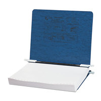Acco 54123 Presstex 8 1/2 inch x 11 inch Dark Blue Side Bound Hanging Data Binder with Storage Hooks and 6 inch Capacity