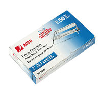 Acco 70022 2 inch Capacity Premium Two-Piece Paper File Fasteners - 50/Box