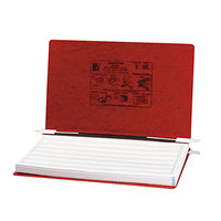 Acco 54049 Presstex 8 1/2 inch x 14 7/8 inch Executive Red Side Bound Hanging Data Binder with Storage Hooks and 6 inch Capacity