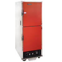 Cres Cor H-135-WUA-11-R Red AquaTemp Insulated Full Height Aluminum Holding Cabinet with Adjustable Humidity and Solid Dutch Doors - 120V, 2000W
