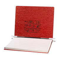Acco 54078 Presstex 11 inch x 14 7/8 inch Red Side Bound Hanging Data Binder with Storage Hooks and 6 inch Capacity