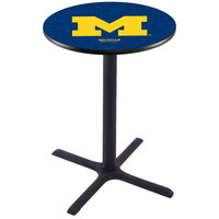 Holland Bar Stool L211B36MICHUN 28 inch Round University of Michigan Pub Table