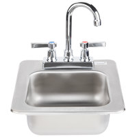 Advance Tabco DI-1-25 Drop In Stainless Steel Sink 5 inch Deep