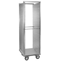 Cres Cor 208-1835-D Deluxe 35 Pan End Load Aluminum Roll-In Refrigerator Rack with Corrugated Sidewalls, Bumper, and Enclosed Base - Assembled