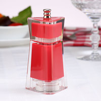 Chef Specialties 29453 4 1/2 inch Kate Red Acrylic Customizable Salt / Pepper Mill