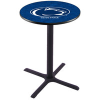 Holland Bar Stool L211B36PENNST 28 inch Round Penn State University Pub Table