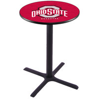 Holland Bar Stool L211B36OHIOST 28 inch Round Ohio State University Pub Table
