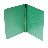 Acco 25076 8 1/2 inch x 11 inch Dark Green Presstex Side Bound Report Cover with Prong Fastener - 3 inch Capacity