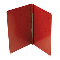 Acco 30078 8 1/2 inch x 14 inch Red Presstex Side Bound Legal Report Cover with Prong Fastener - 3 inch Capacity