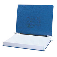 Acco 54073 Presstex 11 inch x 14 7/8 inch Dark Blue Side Bound Hanging Data Binder with Storage Hooks and 6 inch Capacity