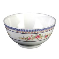 Thunder Group 5206AR Rose 25 oz. Round Melamine Rice Bowl - 12/Case