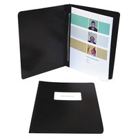 Acco 30071 8 1/2 inch x 14 inch Black Presstex Side Bound Legal Report Cover with Prong Fastener - 3 inch Capacity