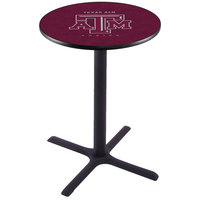Holland Bar Stool L211B36TEXA-M 28 inch Round Texas A&M Pub Table