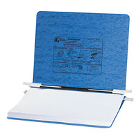 Acco 54032 Presstex 8 1/2 inch x 11 3/4 inch Light Blue Side Bound Hanging Data Binder with Storage Hooks and 6 inch Capacity