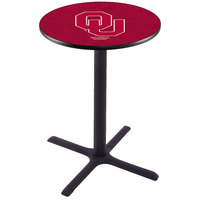 Holland Bar Stool L211B36OKLHMA 28 inch Round University of Oklahoma Pub Table