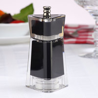 Chef Specialties 29452 4 1/2 inch Kate Black Acrylic Customizable Salt / Pepper Mill