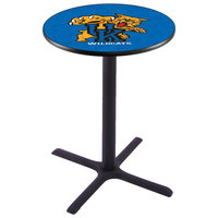Holland Bar Stool L211B36UKYCAT 28 inch Round University of Kentucky Pub Table