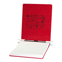 Acco 54119 Presstex 9 1/2 inch x 11 inch Executive Red Top Bound Hanging Data Binder with Storage Hooks and 6 inch Capacity