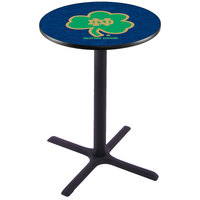 Holland Bar Stool L211B36ND-SHM 28 inch Round University of Notre Dame Pub Table