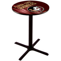Holland Bar Stool L211B3628FSU-HD-D2 28 inch Round Florida State University Pub Table