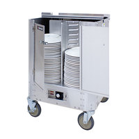Cres Cor HJ-531-10-240 Aluminum Heated Four Stack Plate Dispenser for 9 7/8 inch to 11 inch Diameter Plates