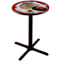Holland Bar Stool L211B3628CHIHWK-R-D2 28 inch Round Chicago Blackhawks Pub Table