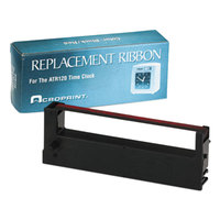 Acroprint 390127000 Black / Red ATR120 Weekly / Biweekly Payroll Clock Ribbon