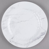 WNA Comet EMP10W6QRY Textures Quarry Collection 10 1/4 inch White Marble Motif Plastic Plate   - 100/Case