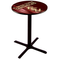 Holland Bar Stool L211B3628FSU-FS-D2 28 inch Round Florida State University Pub Table