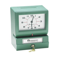 Acroprint 012070413 Model 150 Analog Automatic Print Time Clock with Month, Date, 0-23 Hours, and Minutes