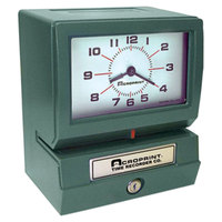 Acroprint 01207040A Model 150 Analog Automatic Print Time Clock with Date, 0-23 Hours, and Minutes