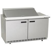 Delfield 4464N-24M 64 inch 2 Door Mega Top Refrigerated Sandwich Prep Table