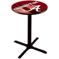 Holland Bar Stool L211B3628AL-A-D2 28 inch Round University of Alabama Pub Table