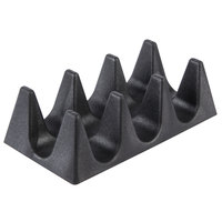 HS Inc. HS1071 3 Shell Black Taco Cradle - 24/Case