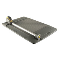 Westcott 15100 TrimAir 21 inch x 9 inch 15 Sheet Titanium Rotary Paper Trimmer with Metal Base